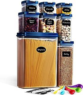 Lockcoo Boite de Rangement Cuisine Lot de 8, Boîtes Hermetique Alimentaire Boite en Plastique Scellée avec Couvercle
