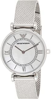 Emporio Armani Women's Mother Of Pearl Dial Stainless Steel Analog Watch - AR11319, Silver
