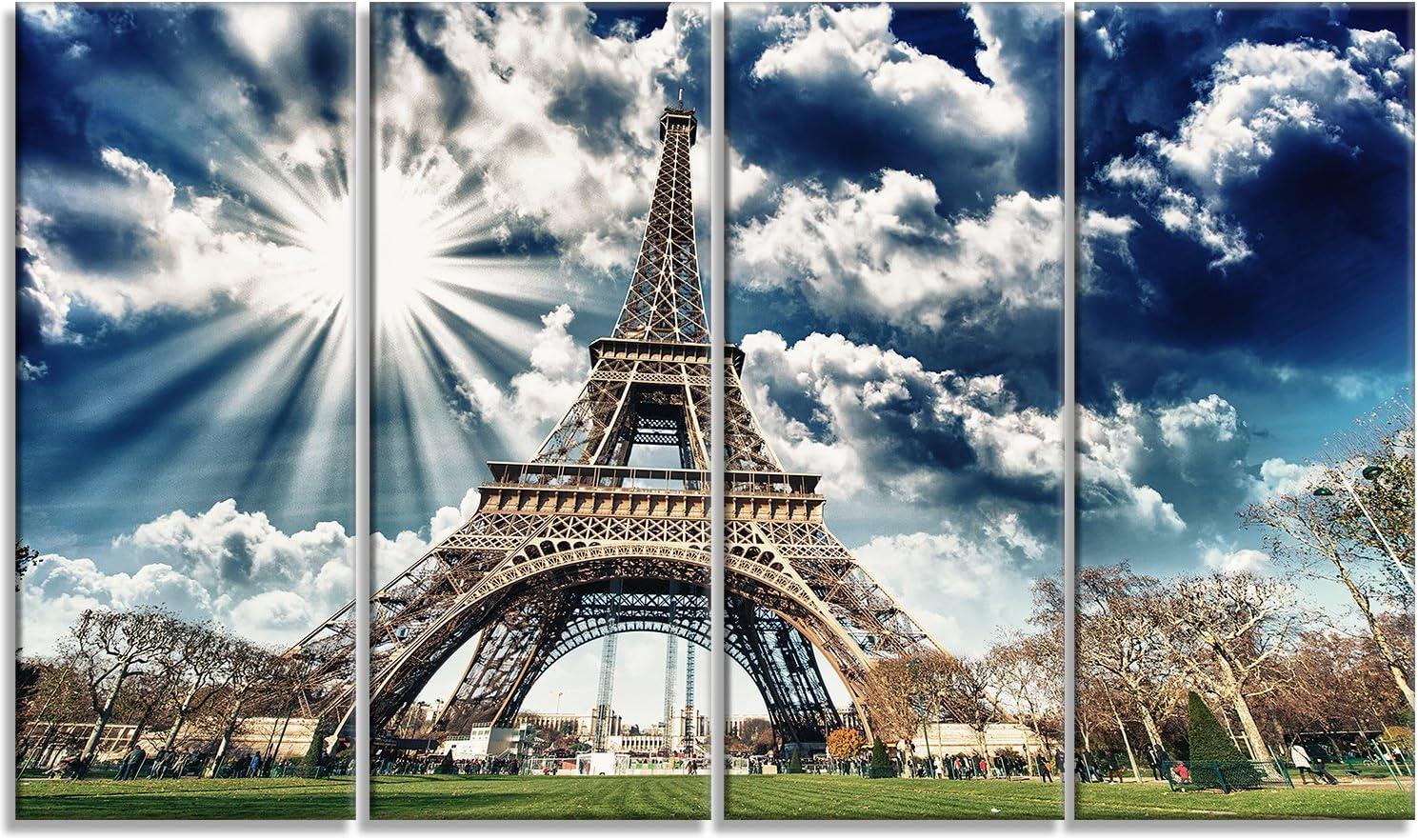 Designart Financial sales sale Magnificent Eiffel Tower Ranking TOP7 Pr View-Skyscape Canvas Photo