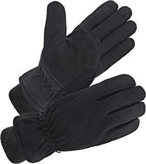 Upgrade Deerskin Leather Suede Winter Gloves with 3M Thinsulate Insulation for Sports and Work...