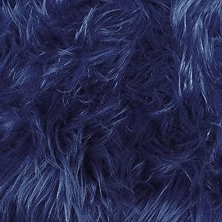 Faux Fake Fur Luxury Shag Navy 60 Inch Fabric by the Yard (F.E.®)