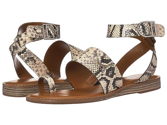 Franco Sarto  Gracious (Vanilla Snake Leather) Womens Flat Shoes