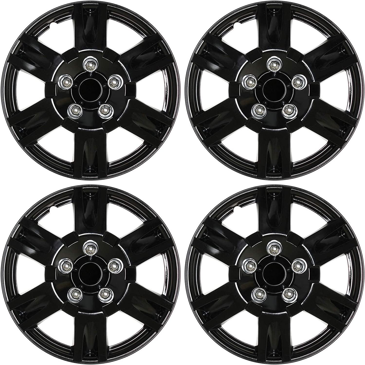 Cover Trend Max 47% OFF Set of 4 Ice Hubc Shiny Black Reservation Aftermarket 15