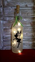 Tinkerbell Wine Bottle Decoration Gift Glass