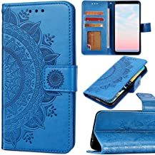 Saceebe kompatibel mit Galaxy A10 H/ülle Leder Flip Case 3D lackierte Ledertasche mit Lanyard Leder Handyh/ülle Schutz Ledertasche Handytasche kratzfest sto/ßfest Schutzh/ülle,Rosa blume