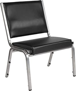 Flash Furniture HERCULES Series 1500 lb. Rated Black Antimicrobial Vinyl Bariatric Medical Reception Chair