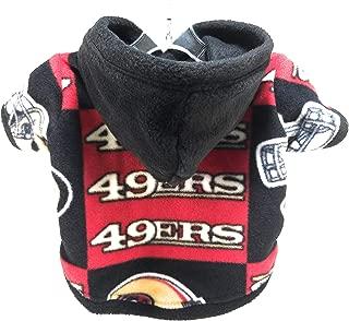 Dog Hoodie - SF 49ers Sports Fleece Fabric