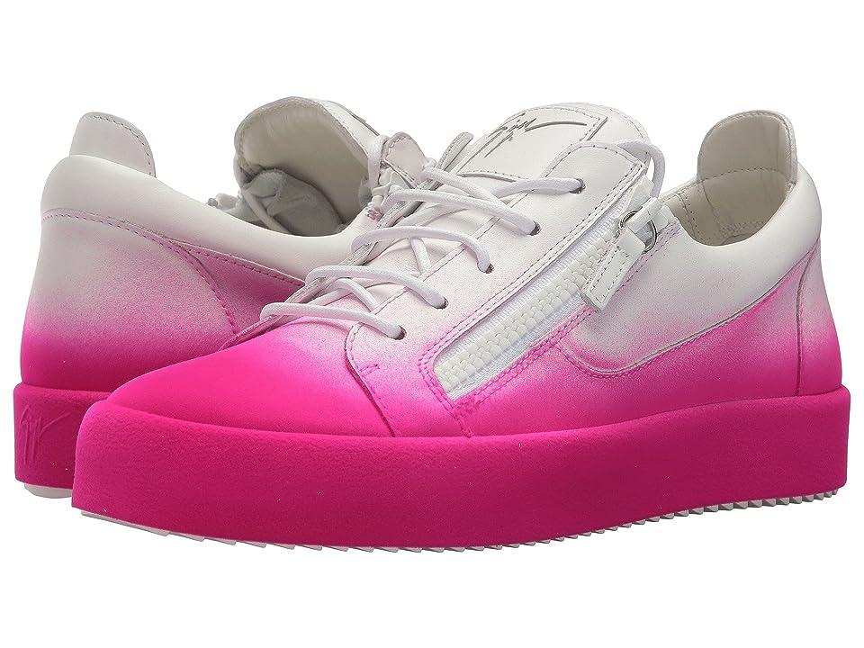 Giuseppe Zanotti May London Degrade Low Top Sneaker (Fluorescent Pink) Men