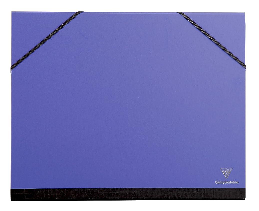 Clairefontaine A4+ Art Folder, Elastic Straps, Indigo amipzftsyi