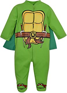 Baby Ninja Turtles Footed Pajamas with Cape