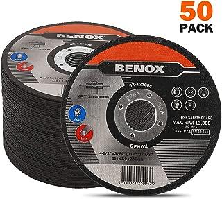 BENOX 50-Pcs Pack 4-1/2 In Cut-Off Wheel 4-1/2 x 0.045 (3/64) x 7/8 In Metal Cutting Disc BX-121006 (50)