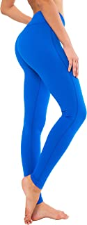 QUEENIEKE Womens Yoga Pants Mid-Waist Sports Leggings Tummy Control Workout Pants with Pocket for Running Fitness Yoga