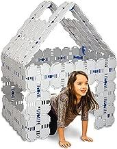 Fort Boards: Fort Building Kit | Jumbo Blocks - Kids Building Toys | 90 Piece Set: Gray