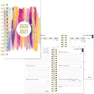 Blueline Weekly/Monthly Academic Planner, July 2020 to July 2021, Twin-Wire Binding, Trilingual, Poly Cover, 8 X 5 Inches,...