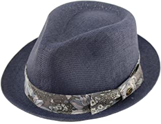 7e628c00221 Epoch Men s Floral Paisley Summer Lightweight Derby Fedora Upturn Brim Hat