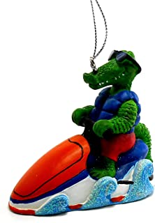 Alligator Jet Ski Ornament