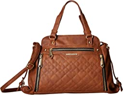 Quilted Mixed Pattern Satchel
