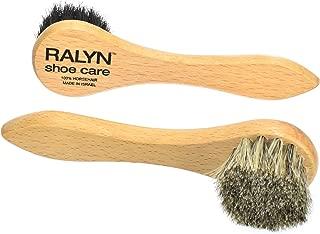 Ralyn Shoe Polish Daubers. Light and Dark Bristles 100% Horsehair Bristles. 2-set.
