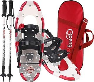 Gpeng 3-in-1 Xtreme Lightweight Terrain Snowshoes for Men Women Youth Kids, Light Weight Aluminum Alloy Terrain Snow Shoes...