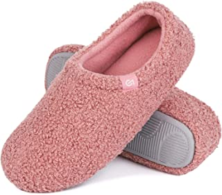 VeraCosy Ladies' Fuzzy Curly Fur Memory Foam Slippers Anti-Slip Lightweight Breathable House Shoes