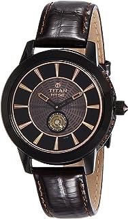 Titan Women's HTSE Quartz Watch with Stainless-Steel Strap, Brown, 18 (Model: 2523NL01)