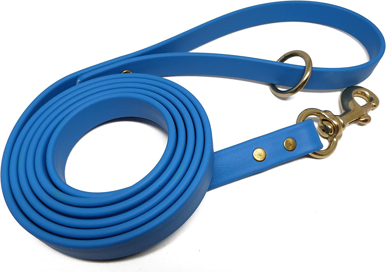 JimHodgesDogTraining Gummy Dog Leash, Biothane, Dog Training Leash, Made in the USA, 6 Feet, Varie Sizes &S Colors