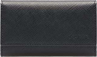 Saffiano Leather Key Holder Wallet, Black (Nero)