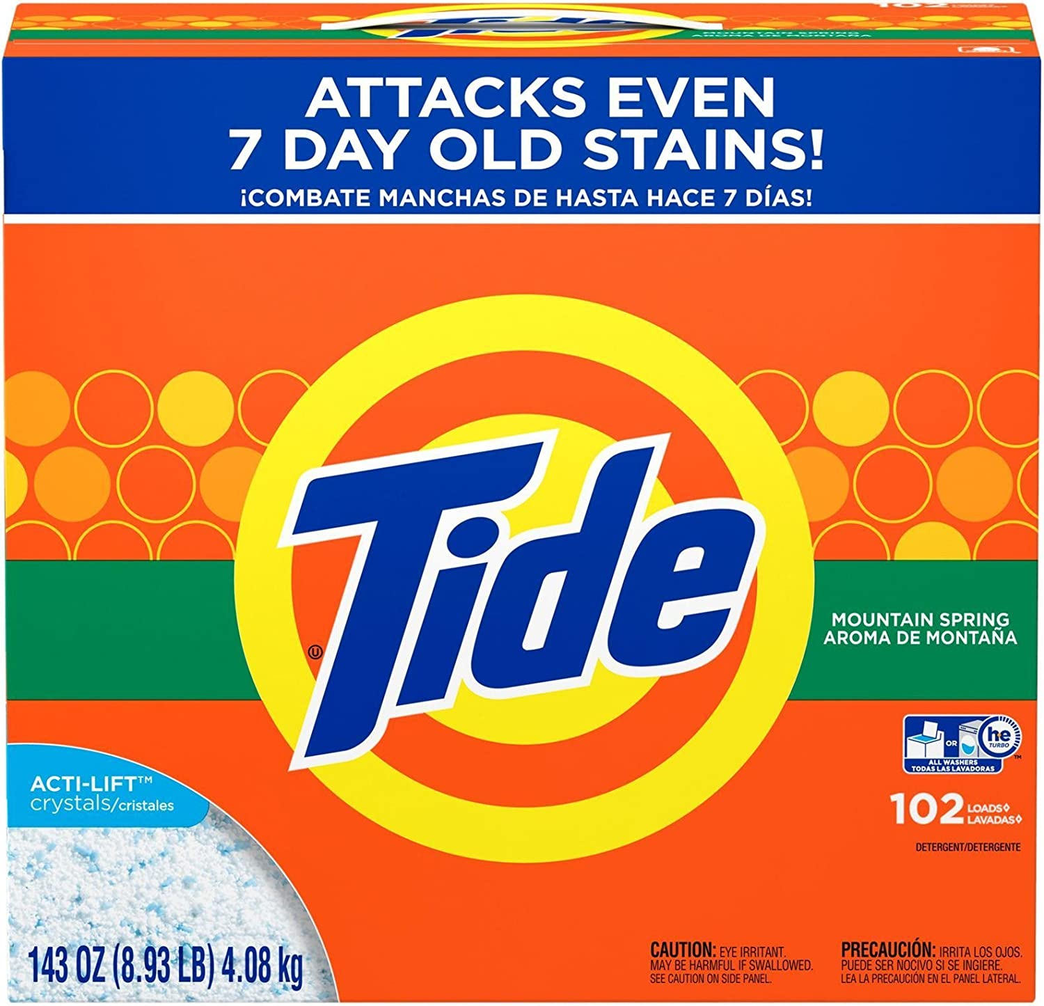 Tide Mail order cheap Powder Laundry Detergent Mountain 100% quality warranty! oz 143 102 Spring Loads