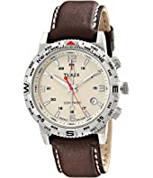 Timex Intelligent Quartz Adventure Series Compass Leather Strap Watch