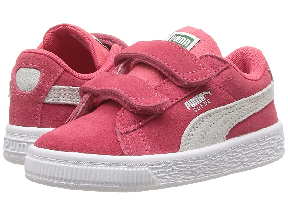 Puma Kids Suede Classic V (Toddler) (Paradise Pink/Puma White) Girls Shoes