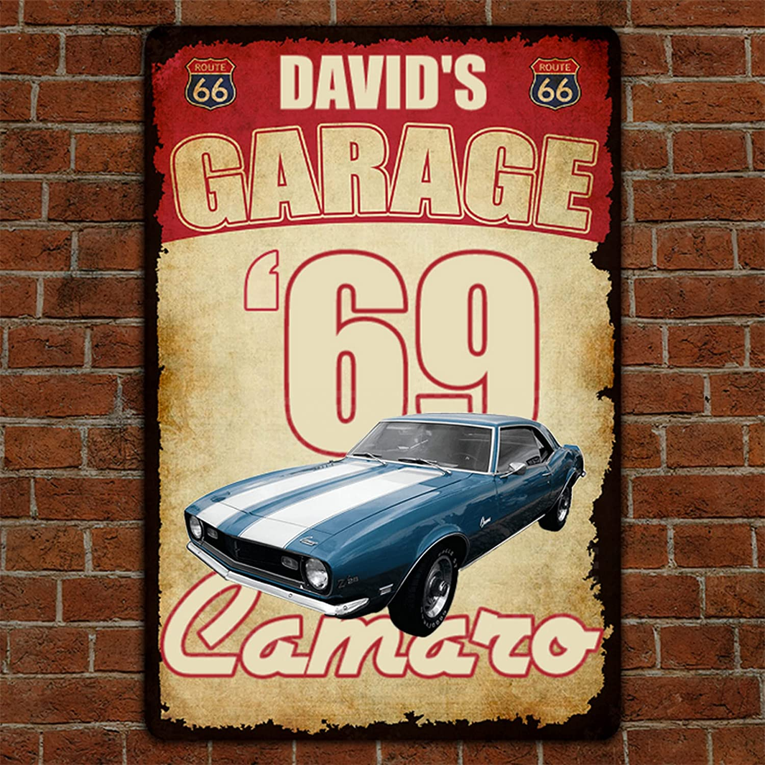 Personalized Garage Metal Sign Route Car Custom N 66 Chicago Mall Selling
