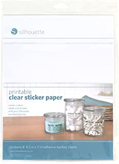Silhouette MEDIA-CLR-ADH Papel Decorativo, transparente