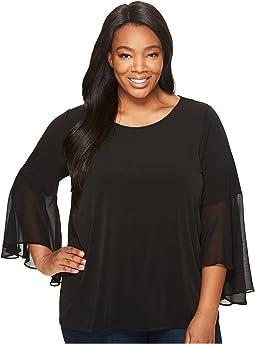 Calvin Klein Plus - Plus Size Ruffle Flare Sleeve Top