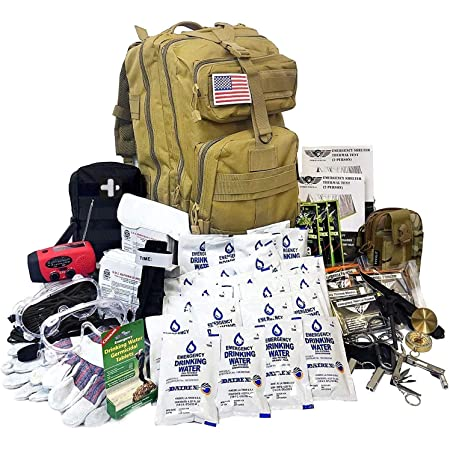 EVERLIT Complete 72 Hours Earthquake Bug Out Bag Emergency Survival Kit for Family. Be Prepared for Hurricanes, Floods, Tsunami, Other Disasters