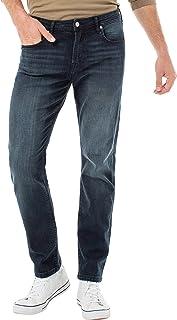 "Liverpool Men's Kingston Modern Slim Straight Jeans, 34"" INS (Black Diamond, 38)"