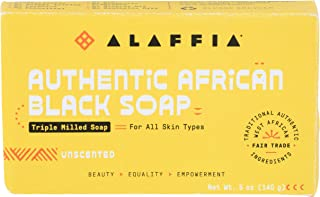 Alaffia, Black Soap Authentic African Unscented, 5 Ounce