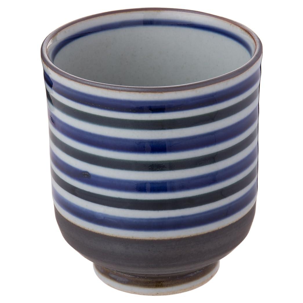 パケット不定ホームレスランチャン(Ranchant) 特大湯のみ ブラック,ブルー Φ8.5x9.8(cm) 黒巻ライン 有田焼 日本製