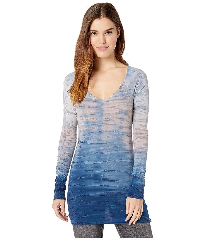 Hard Tail Sexy Long Skinny Tee (Rainbow Horizon 76) Women's T Shirt