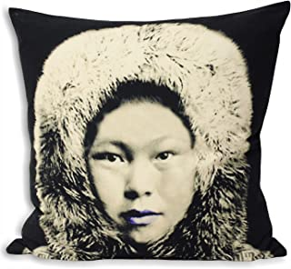 Riva Home Monochrome Eskimo Cushion Cover (Cushion Pad Not Included) (27in x 27in) (Black/Grey)