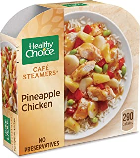Healthy Choice Cafe Steamers Frozen Dinner, Pineapple Chicken, 9.9 Ounce