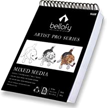 100-Sheet Sketchpad Artist Pro Watercolor and Acrylic Art Pad for Sketching Ink Sketch Book Coloring Notebook - 98 Ib / 16...