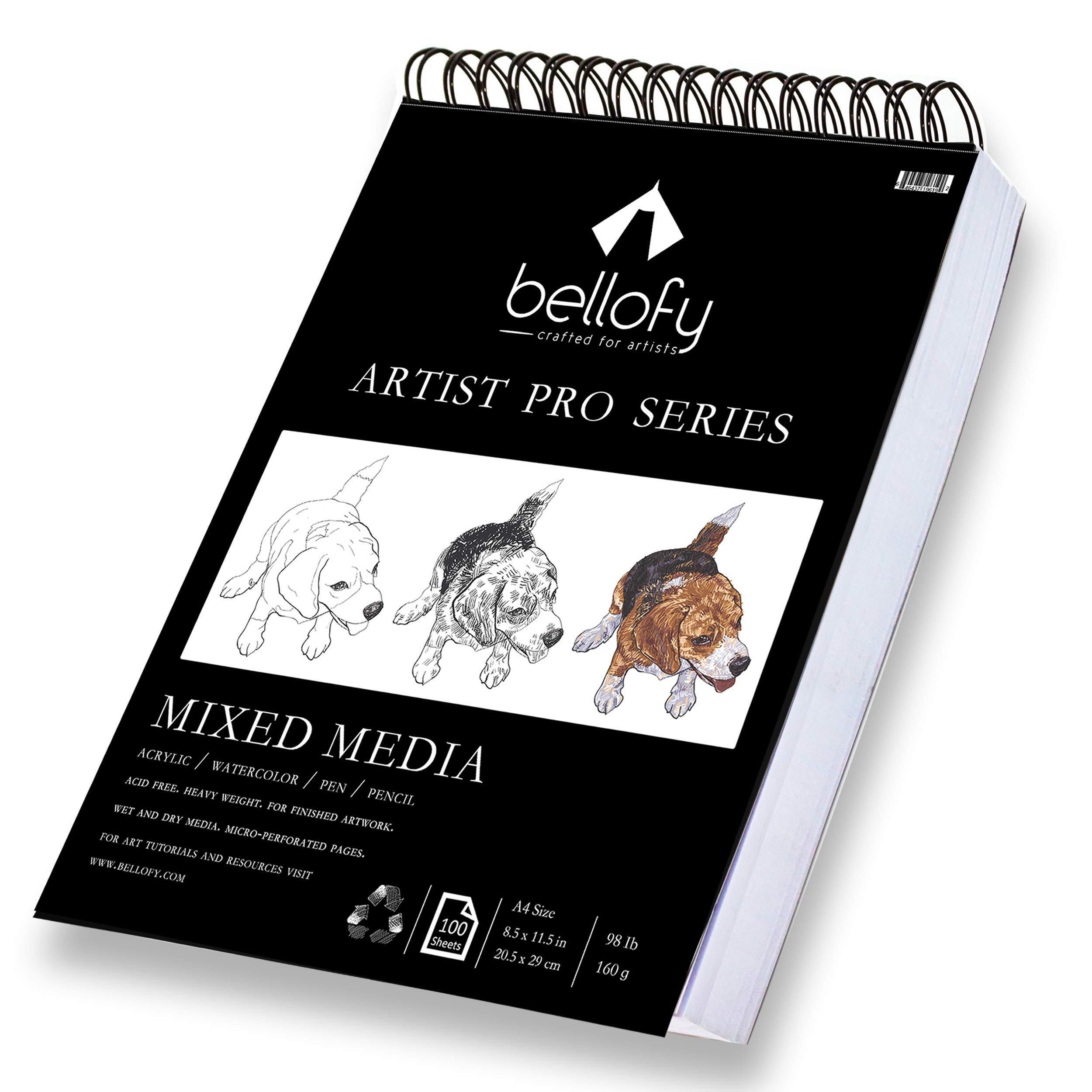 100-Sheet Pro-Art Strathmore 9-Inch by 12-Inch Premium Recycled Sketch Book