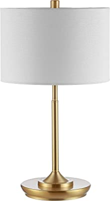 Safavieh TBL4228A-SET2 Lighting Collection Taren Brass Gold 22-inch (Set of 2) -LED Bulb Included Table Lamp