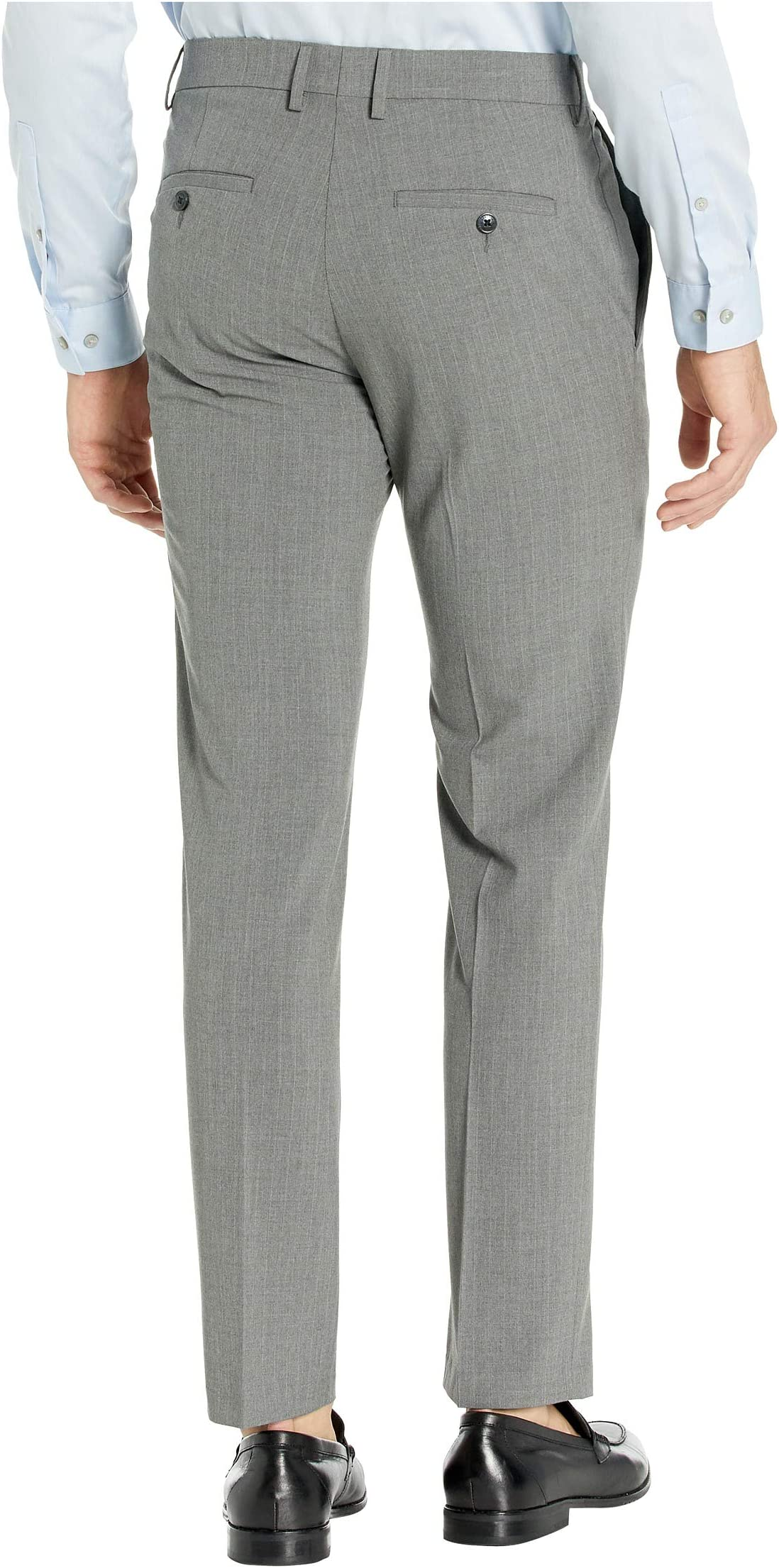 Kenneth Cole Reaction Stretch Pinstripe Slim Fit Flat Front Dress Pants litDK