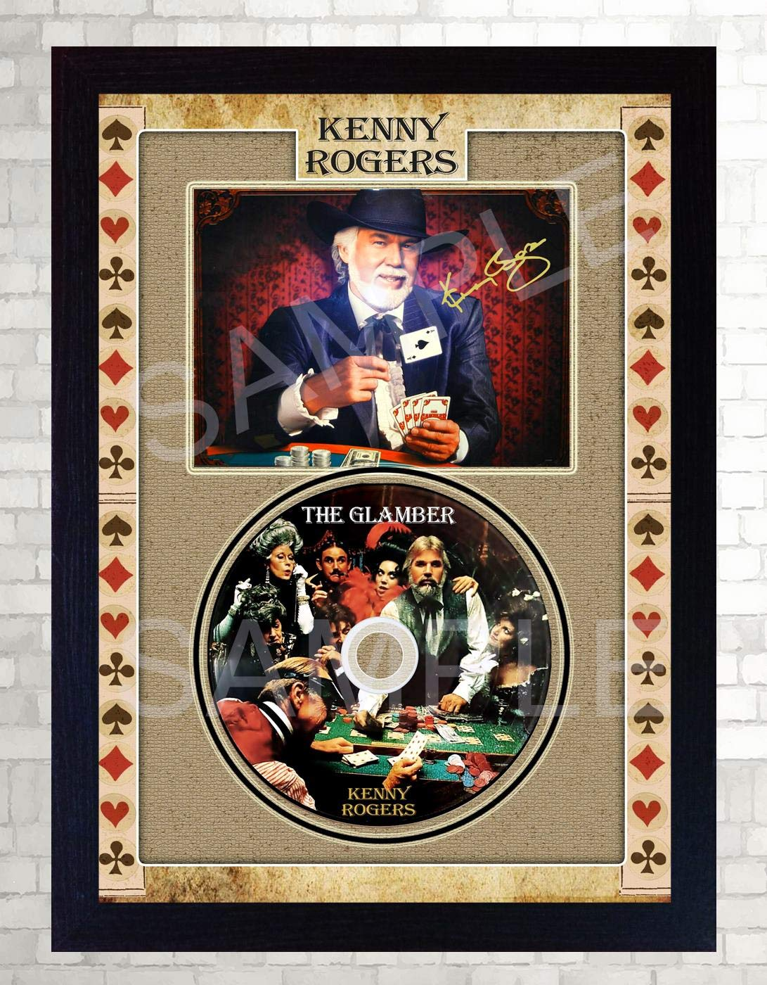 Sgh Services New Kenny Rogers The Gambler Signed Framed Print And Cd Disc Buy Online In Faroe Islands At Faroe Desertcart Com Productid 212685109