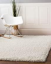 Super Area Rugs Solid Cozy Home Decor Shag Rug, 5' x 8', Snow White
