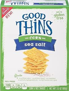 Good Thins Gluten Free Sea Salt Corn Crackers (Pack of 12)