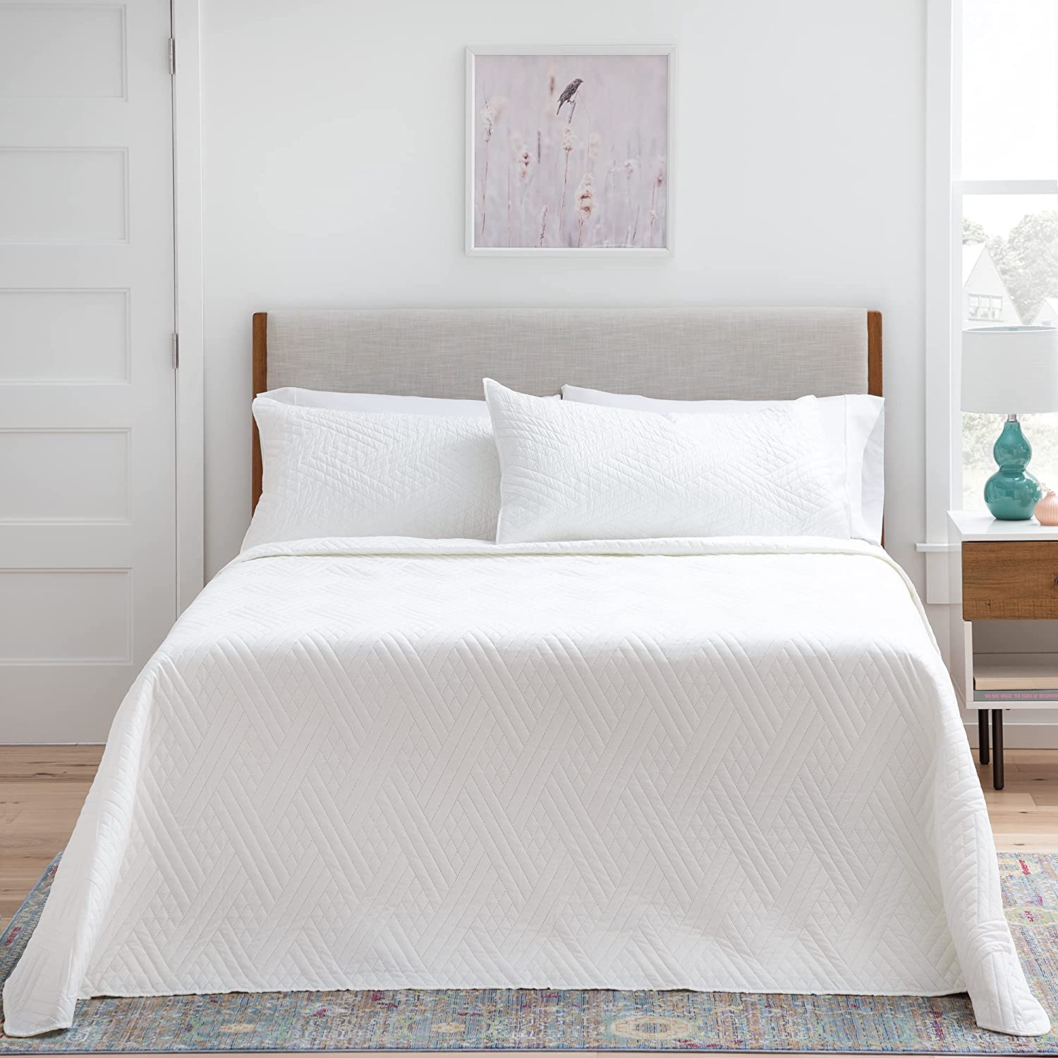 Online limited product Linenspa Microfiber Coverlet Bedspread Super special price with - Pillow Shams Light