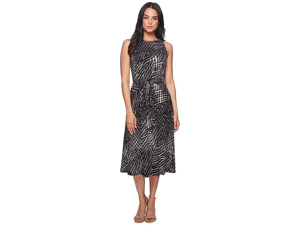 LAUREN Ralph Lauren Feliana Kaya Park Stripe Dress (Slate/Colonial Cream/Multi) Women