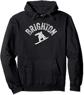 Brighton Snowboard Vintage Snowboarder Retro Utah Pullover Hoodie